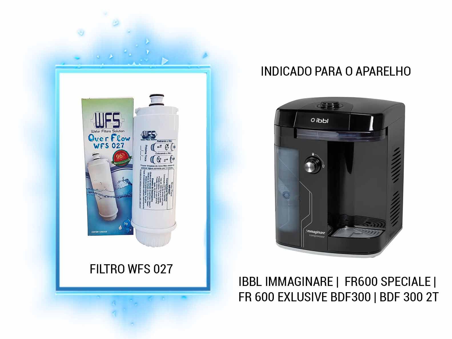 FILTRO BEBEDOURO (OVER FLOW) IBBL CZ+7 IMMAGINARE Refil Filtro Purificador Ibbl C+3 Cz+7 Fr600 Immaginare (OVER FLOW)