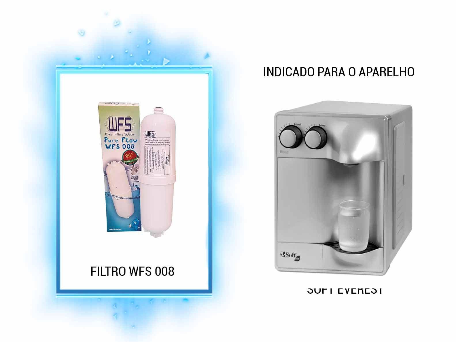 FILTRO BEBEDOURO (PURE FLOW) SOFT/EVEREST Refil para Filtro Purificador Wfs008 |Pure Flow