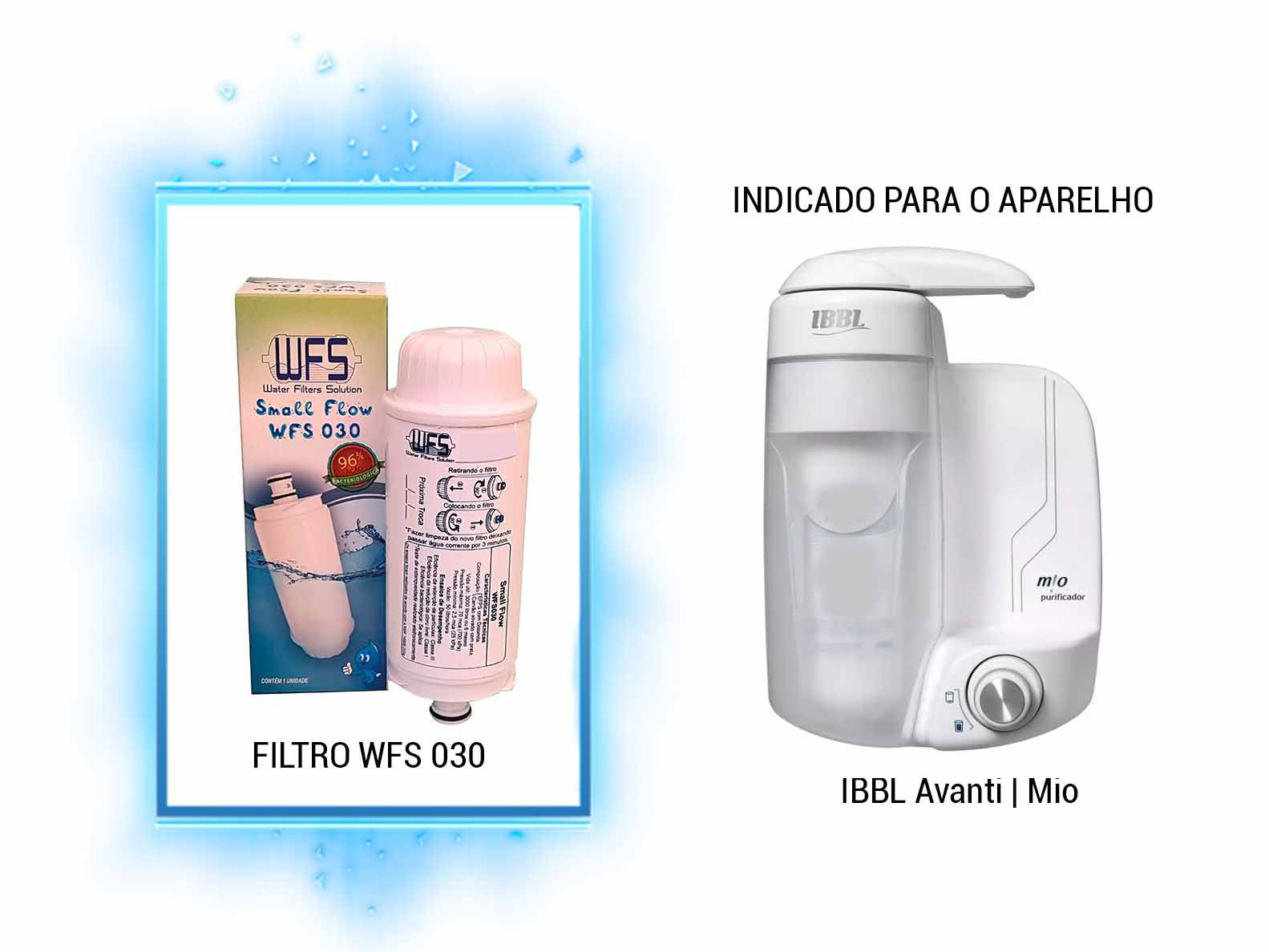 FILTRO BEBEDOURO (SMALL FLOW) IBBL/AVANTI/MIO Refil Purificador IBBL / AVANT / MIO   Wfs 030   Small Flow
