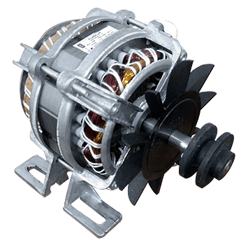 Motor de Tanquinho 110V Com Pé até 10KG Polia Plástica V 32MM