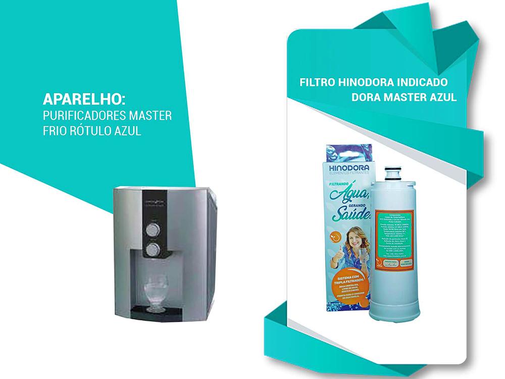 Refil para Filtro Purificador de água Dora Master Azul  Compatível Master Frio Rótulo Azul