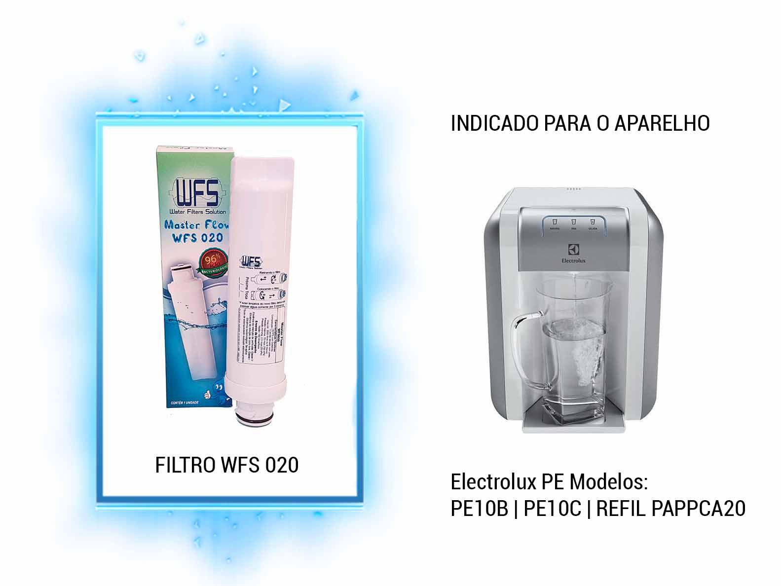 Refil Purificador Electrolux PE   Wfs 020  Master Flow