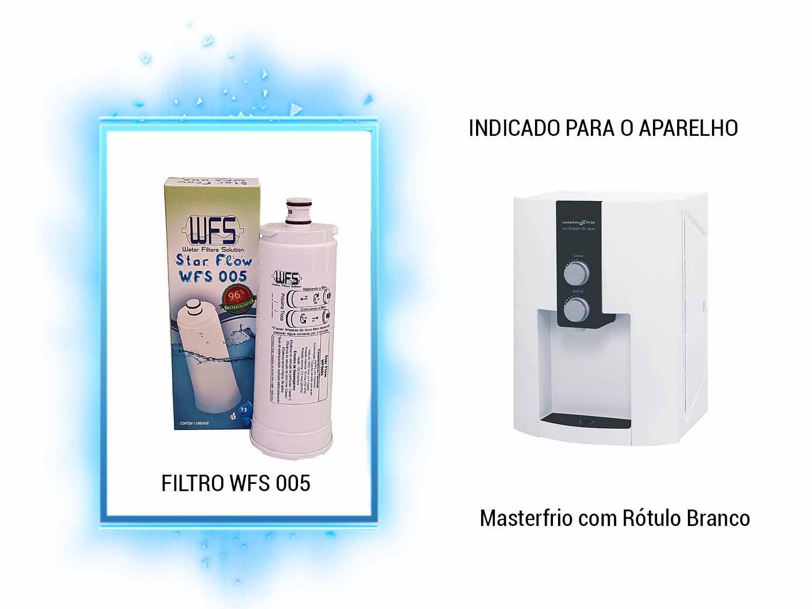 Filtro De Água Wfs005 Star Flow Comp. Master Frio