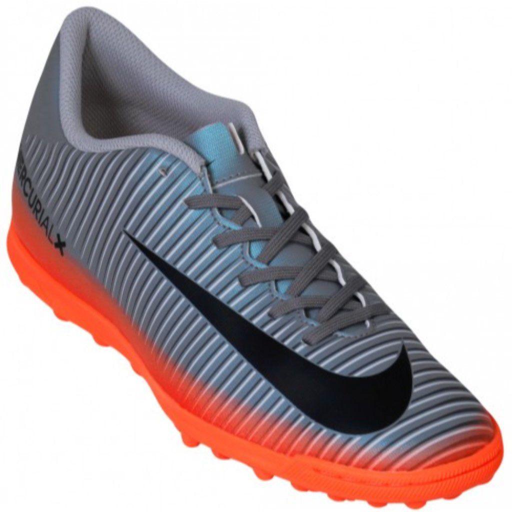 243b72f81e Chuteira Society Nike Mercurial X Vortex 3 CR7 TF Masculino - Shock ...