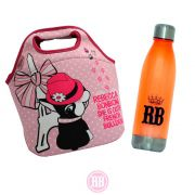 Kit Rebecca Bonbon Bolsa Multiuso Paris + Garrafa Like Princess