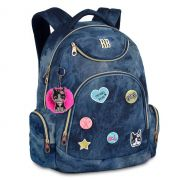 Mochila Laptop Rebecca Bonbon  Bottons | Jeans | RB9265