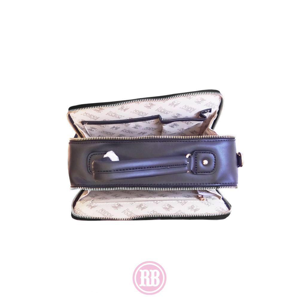 Bolsa Baú Rebecca Bonbon Cores: Preta | Bege | Caramelo | RB4803
