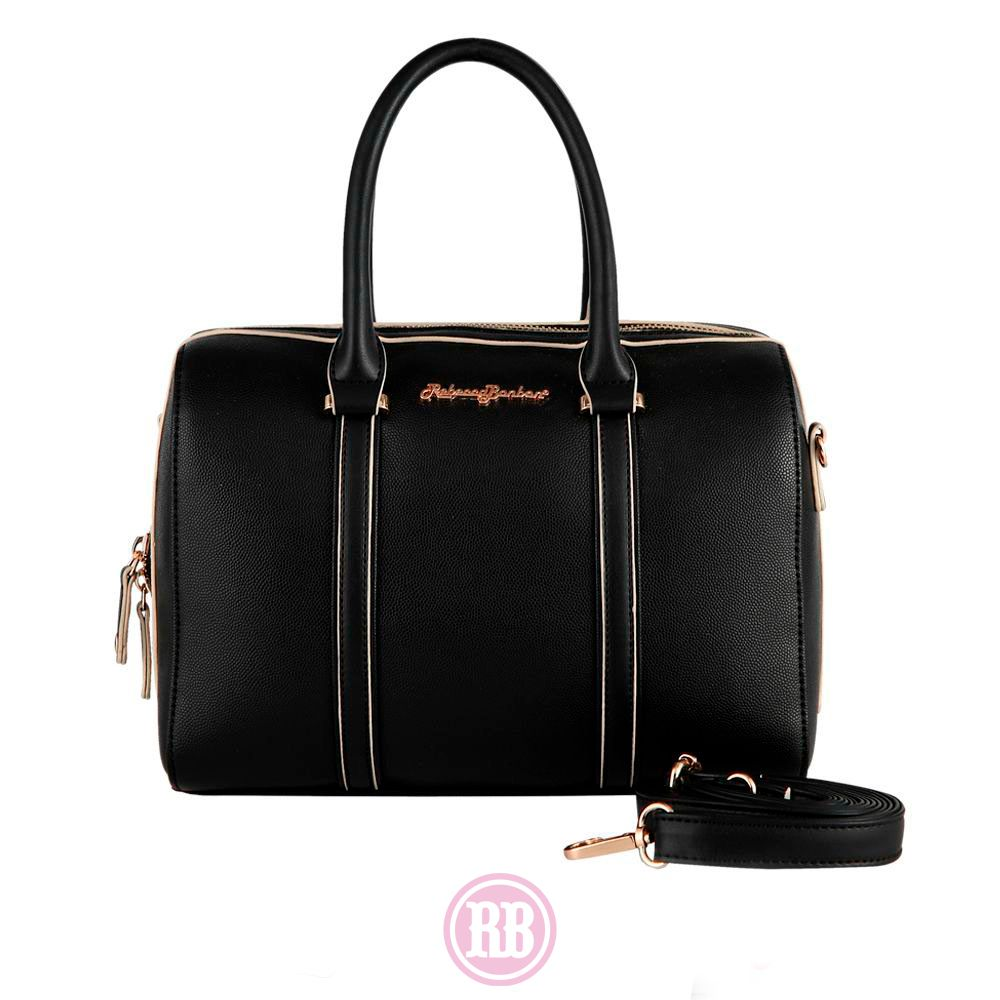Bolsa Baú Rebecca Bonbon Cores: Preta | Caramelo | Bege | RB1902