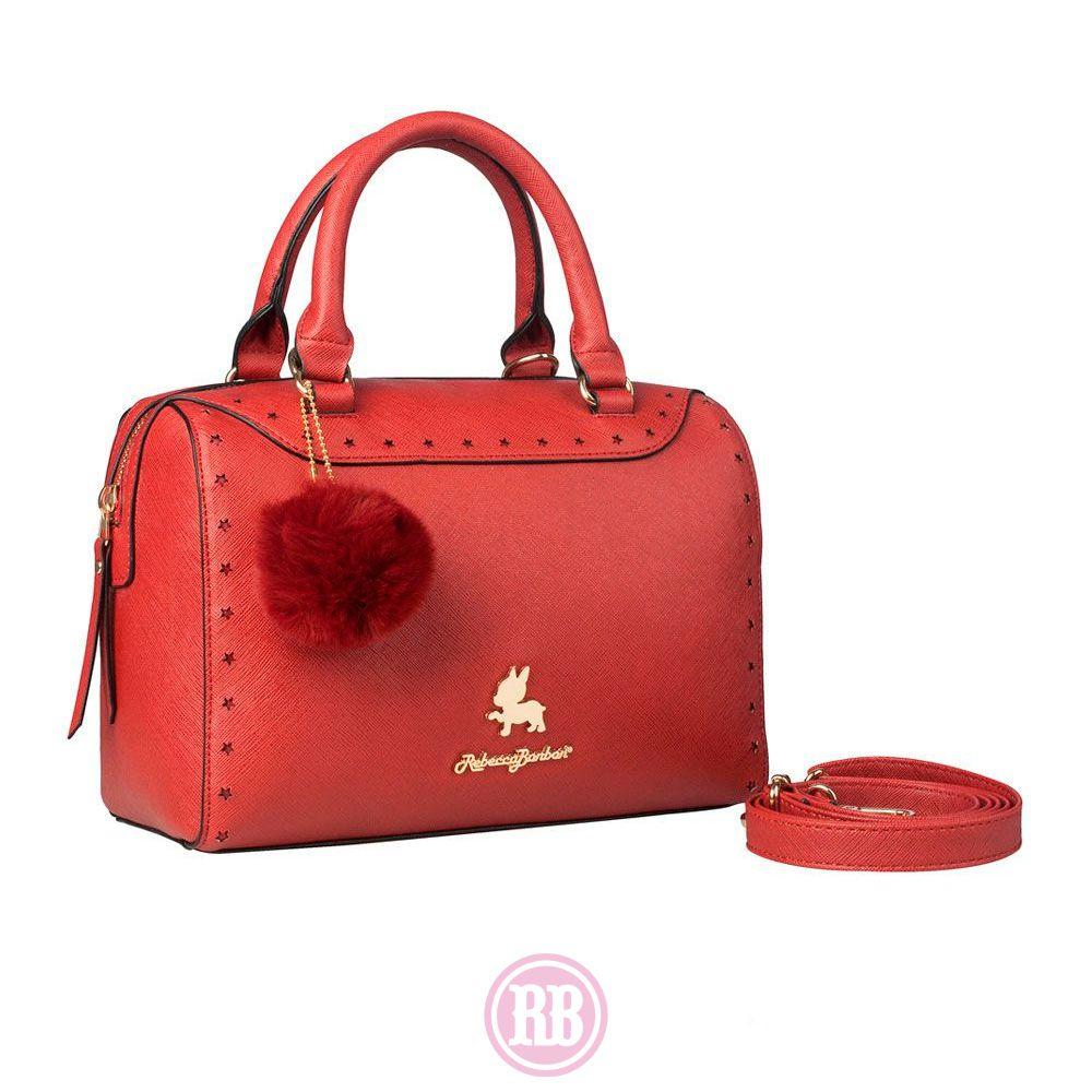 Bolsa Baú  Rebecca Bonbon Cores:  Rosa | Bege | Vermelho | Preta |  RB3802