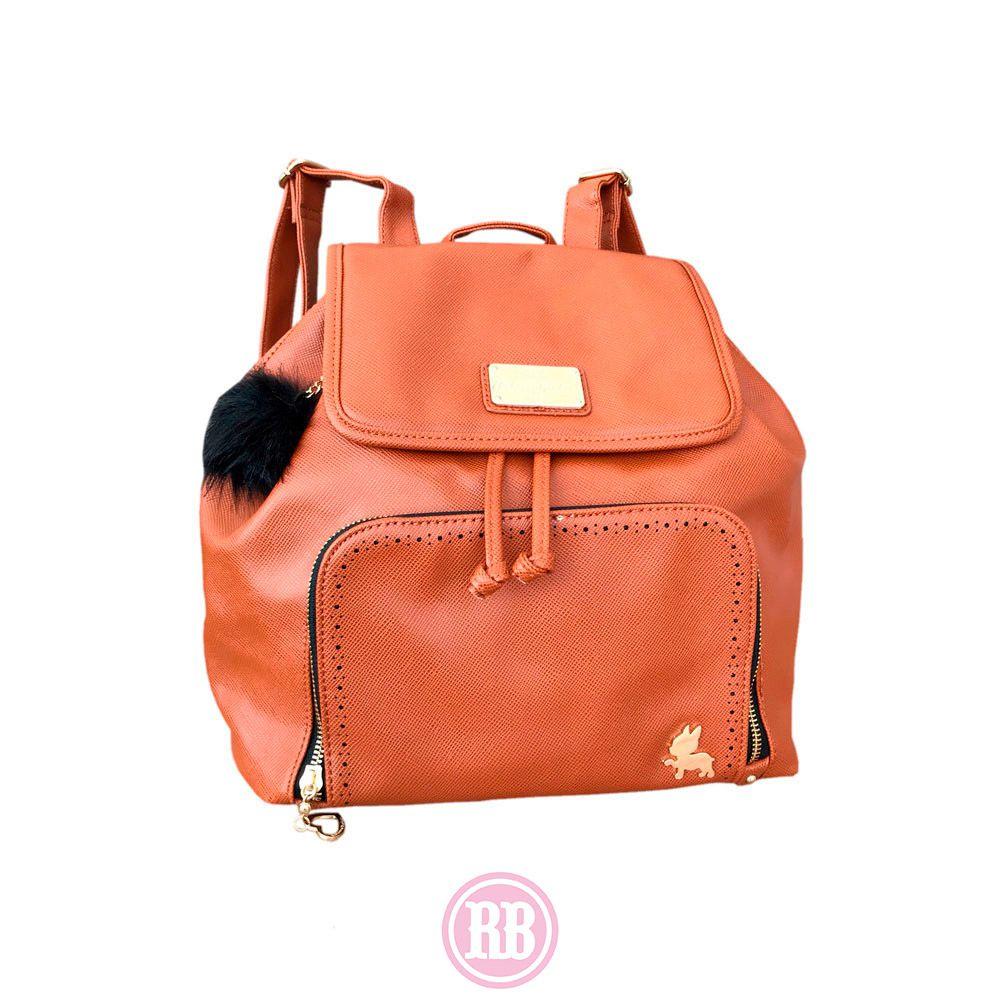 Bolsa Mochila Rebecca Bonbon Cor: Caramelo | RB1703