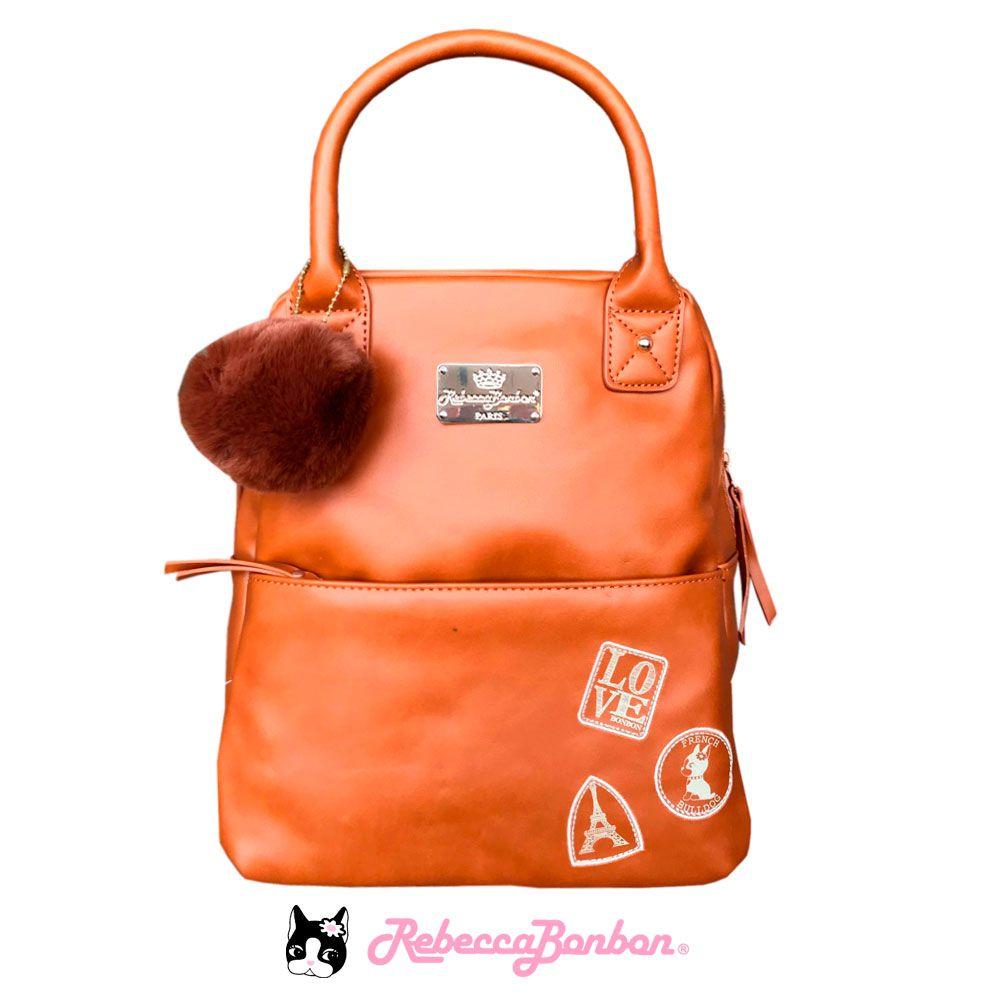 Bolsa Mochila Rebecca Bonbon Cores: Caramelo | Preta | RB4804