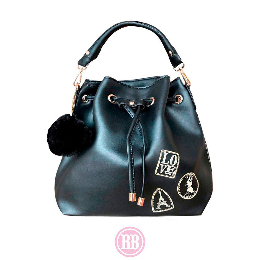 Bolsa Saco Rebecca Bonbon Cores: Caramelo | Preta | RB4802