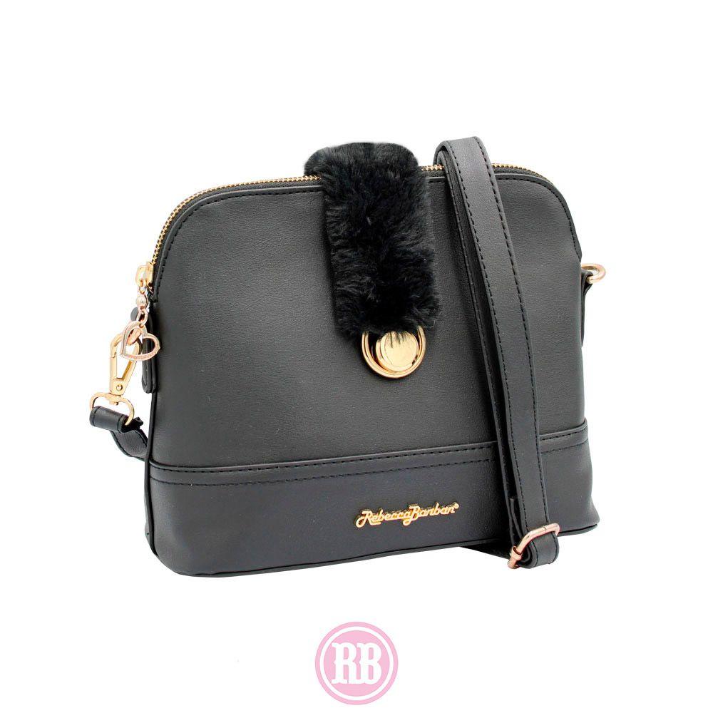 Bolsa Tiracolo Rebecca Bonbon Cores: Rosê | Preta | Caramelo |RB2902
