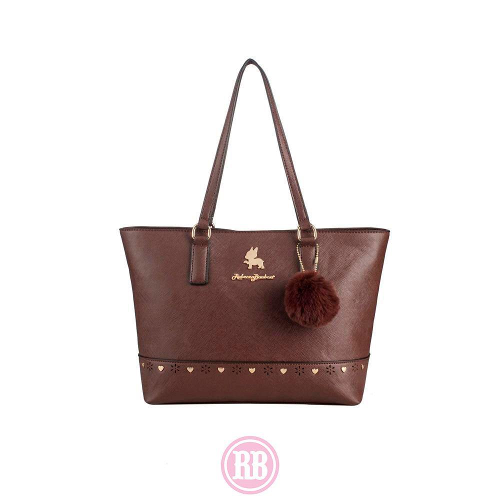Bolsa Tote Bag  Rebecca Bonbon Cores: Marrom | Rosê | Vermelho | Preta | RB2803