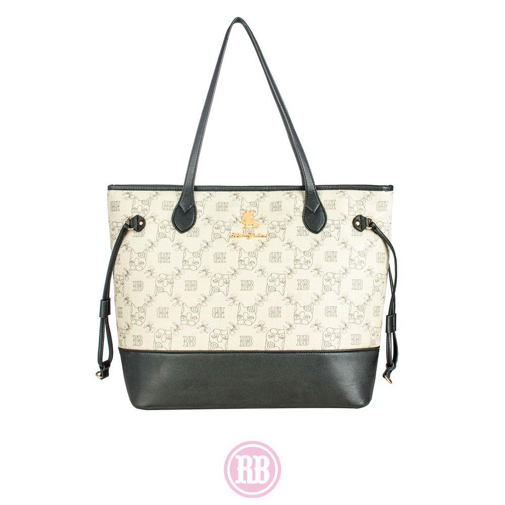Bolsa Tote Bag Rebecca Bonbon Cores: Preta | Caramelo | Marrom | RB1805
