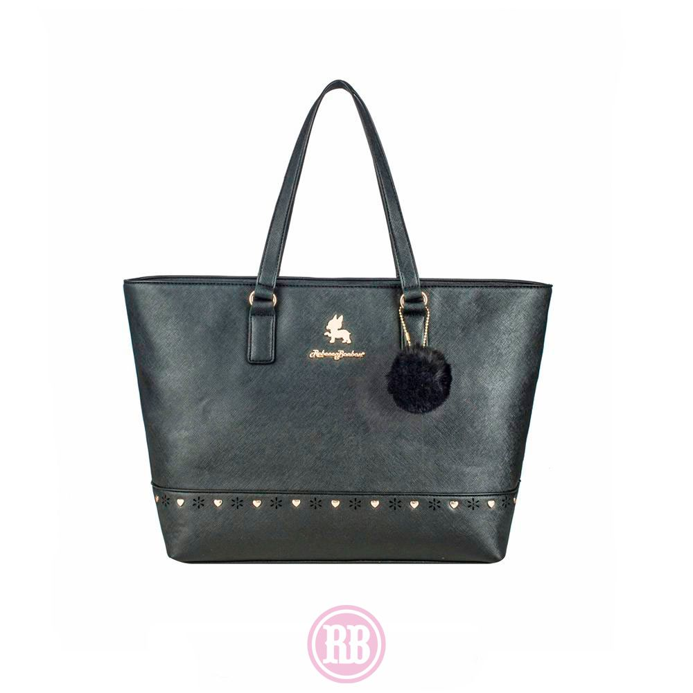 Bolsa Tote Bag Rebecca Bonbon Cores: Preta | Marrom | Rosê | Vermelho | RB2804