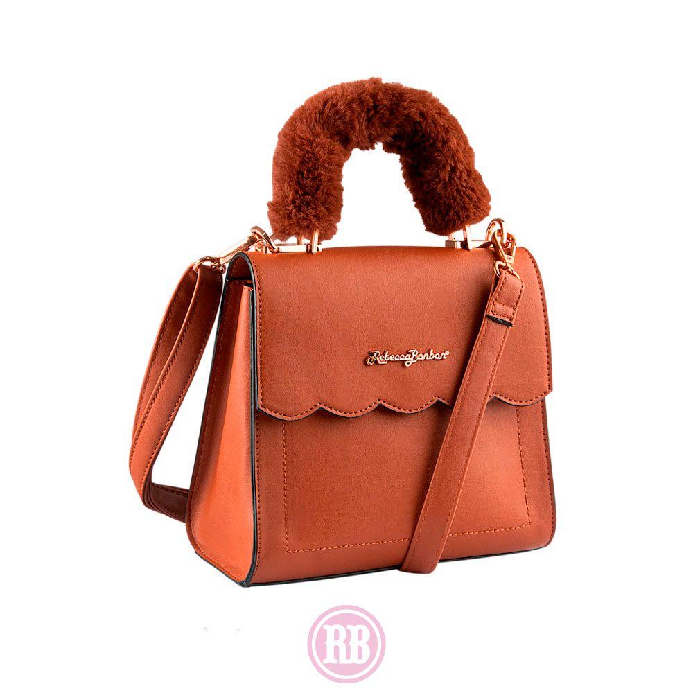 Bolsa Transversal Rebecca Bonbon Cores: Caramelo | Preta | Rosê | RB2901