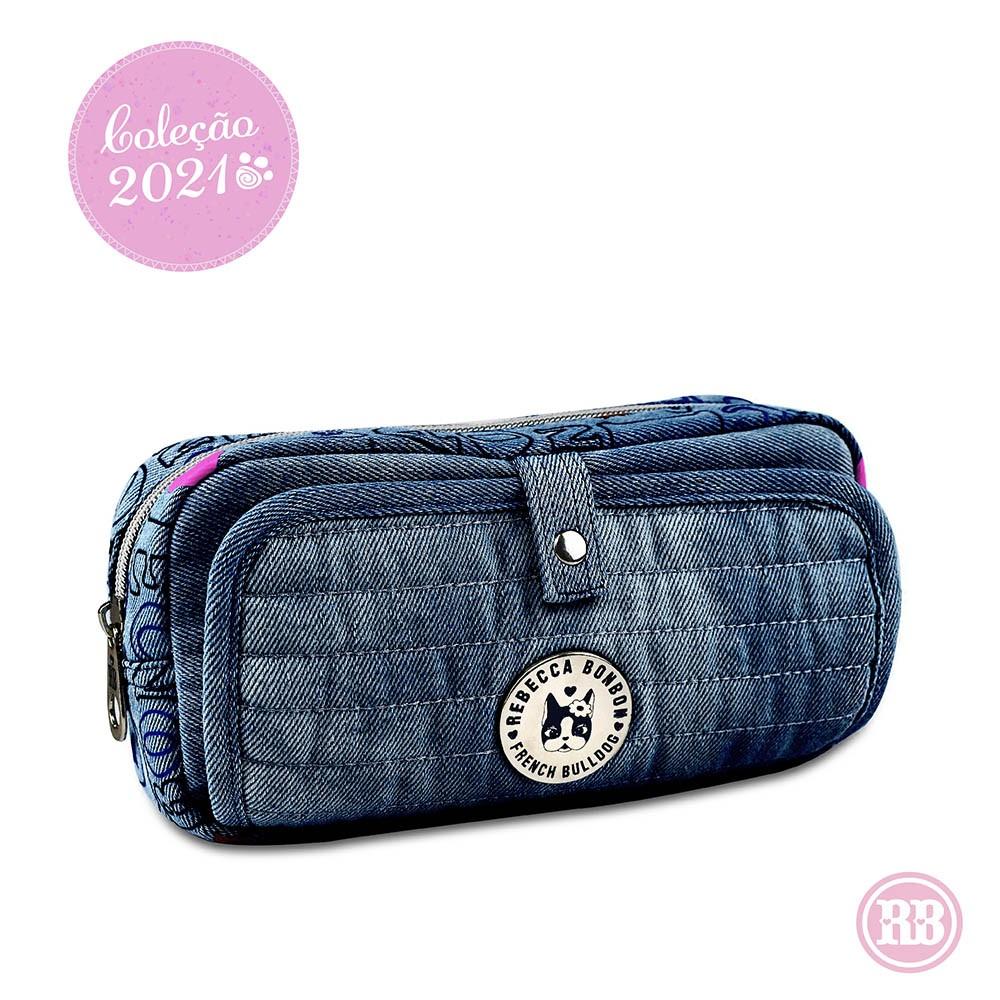 Estojo Jeans Rebecca Bonbon RB3166 - Jeans escuro