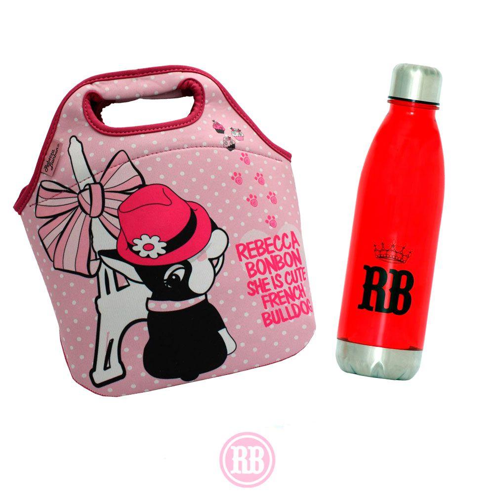 Kit Rebecca Bonbon Bolsa Multiuso Paris + Garrafa Like Princess