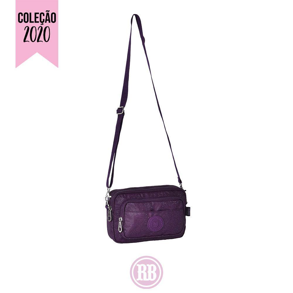 Mini Bolsa Transversal / Pochete Rebecca Bonbon Cor: Roxa | RB2083