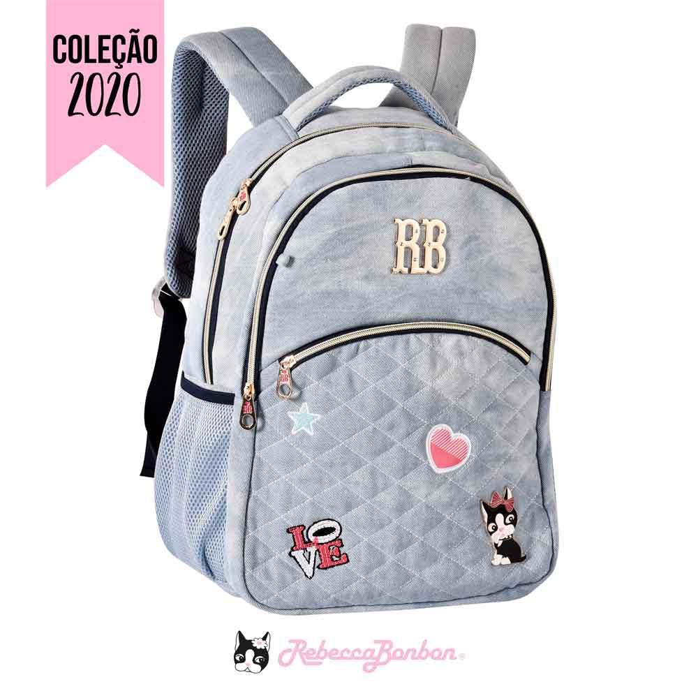 Mochila Laptop Jeans Rebecca Bonbon | RB2054
