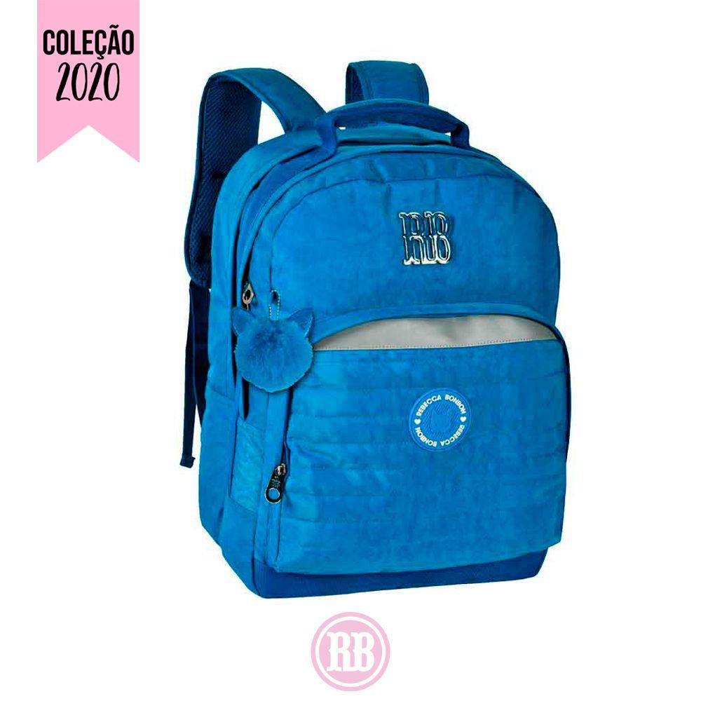 Mochila Laptop Rebecca Bonbon Cor: Azul   RB2041