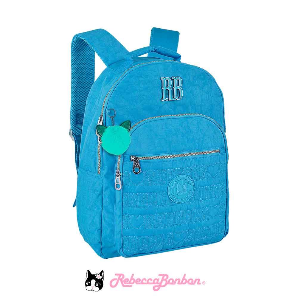 Mochila Laptop Rebecca Bonbon Cor: Azul  RB9128