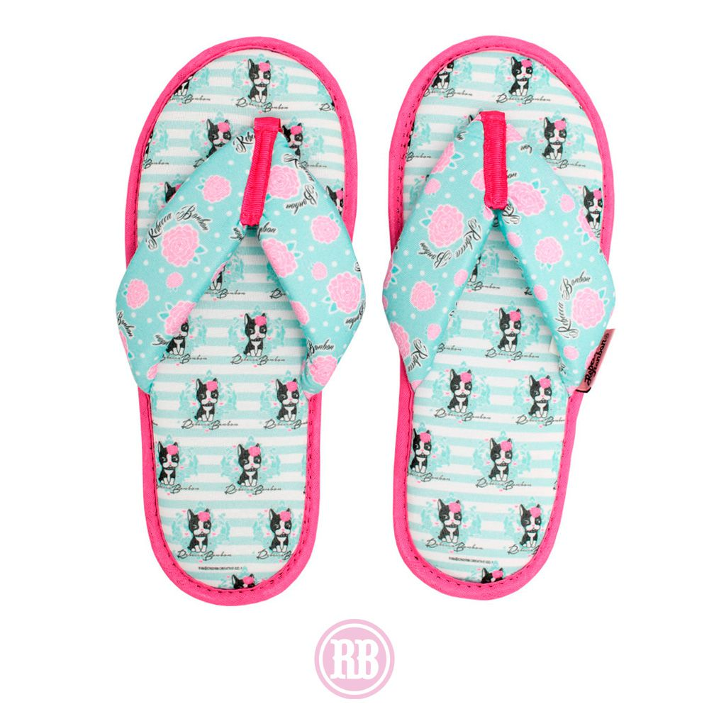 Pantufa de Dedo Stripes Rebecca Bonbon RB0013-PD