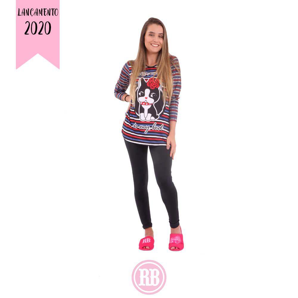 Pijama Manga Longa Rebecca Bonbon RB0495