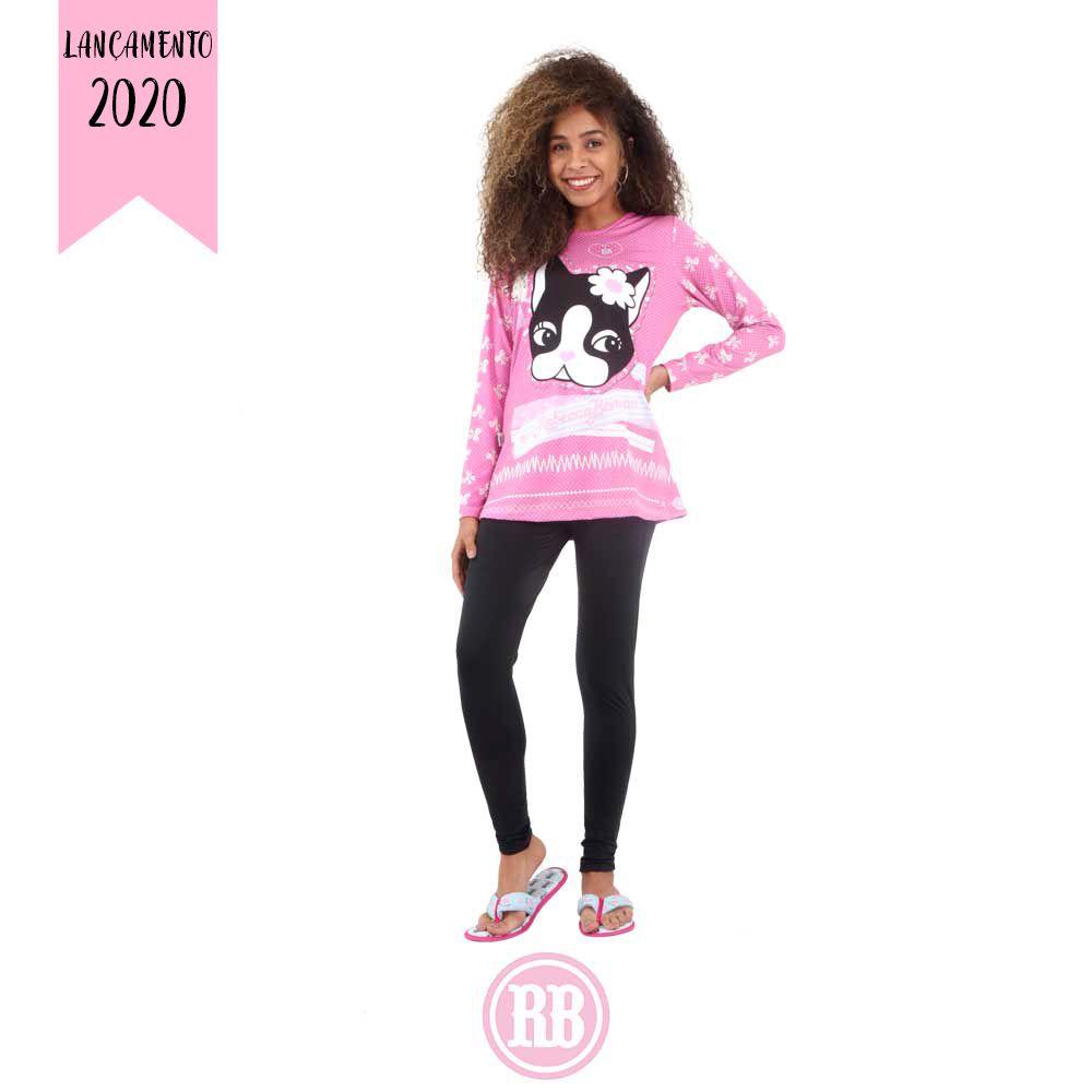 Pijama Manga Longa Rebecca Bonbon RB0493