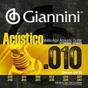 Encordoamento Giannini Violão 12 Cordas Aço Acústico 0.10
