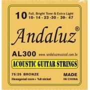 Encordoamento Andaluz Violão Aço 0.10 AL300
