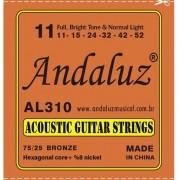Encordoamento Andaluz Violão Aço 0.11 AL310