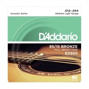 Encordoamento D'Addario Violão Aço EZ920 Bronze 0.12