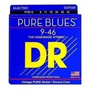 Encordoamento DR Guitarra Pure Blues 0.09 Níquel