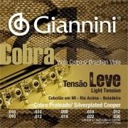 Encordoamento Giannini Cobra Viola Tensão Leve (Mi Cebolão)