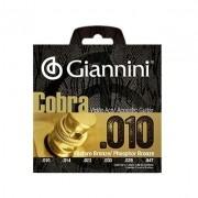 Encordoamento Giannini Violão GEEFLE Aço Cobra 0.10
