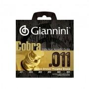 Encordoamento Giannini Violão GEEFLK Aço Cobra 0.11