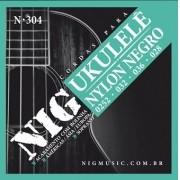 Encordoamento NIG Ukulele Soprano Nylon Negro