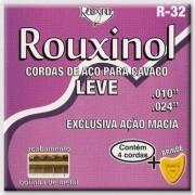 Encordoamento Rouxinol Cavaco R32 Tensão Leve (Brinde 1 Palheta)