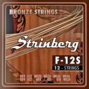 Encordoamento Strinberg F-12S Violão 12 Cordas Aço 0.09