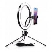 """Ring Light Spectrum 10"""" C/ Suporte para Smartphone e Pedestal"""