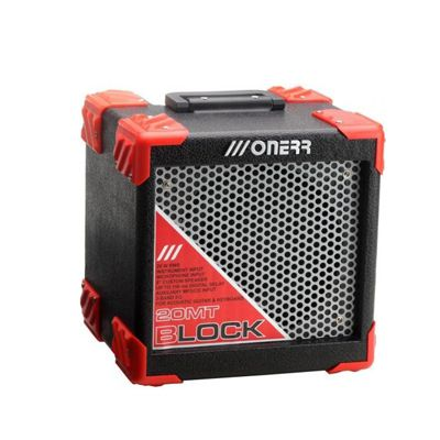 Caixa Onerr Monitor Block 20MT Preta com Vermelha
