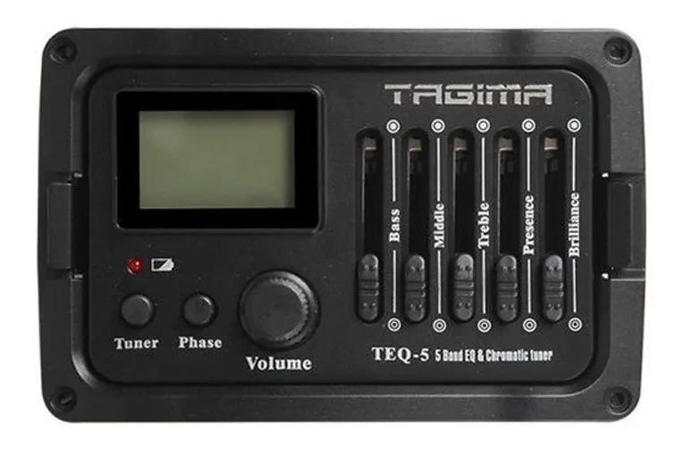 Captador Pré Amplificador Tagima TEQ-5 p/ Violão
