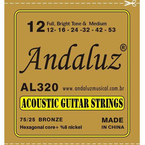 Encordoamento Andaluz Violão Aço 0.12 AL320
