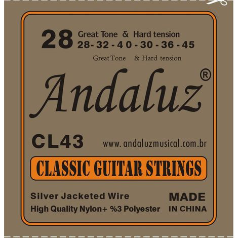 Encordoamento Andaluz Violão Nylon CL43