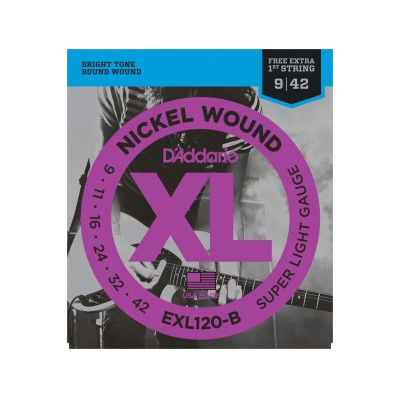 Encordoamento D'Addario Guitarra EXL120 0.09 Nickel Wound