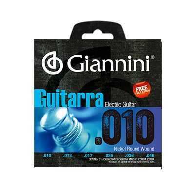 Encordoamento Giannini Guitarra GEEGST10 0.10