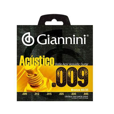 Encordoamento Giannini Violão GESWAL Aço 0.09