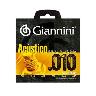 Encordoamento Giannini Violão GESWAM Aço 0.10
